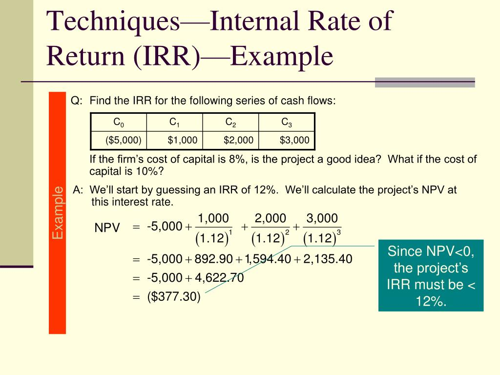 Q:Find the IRR for the following series of cash flows: