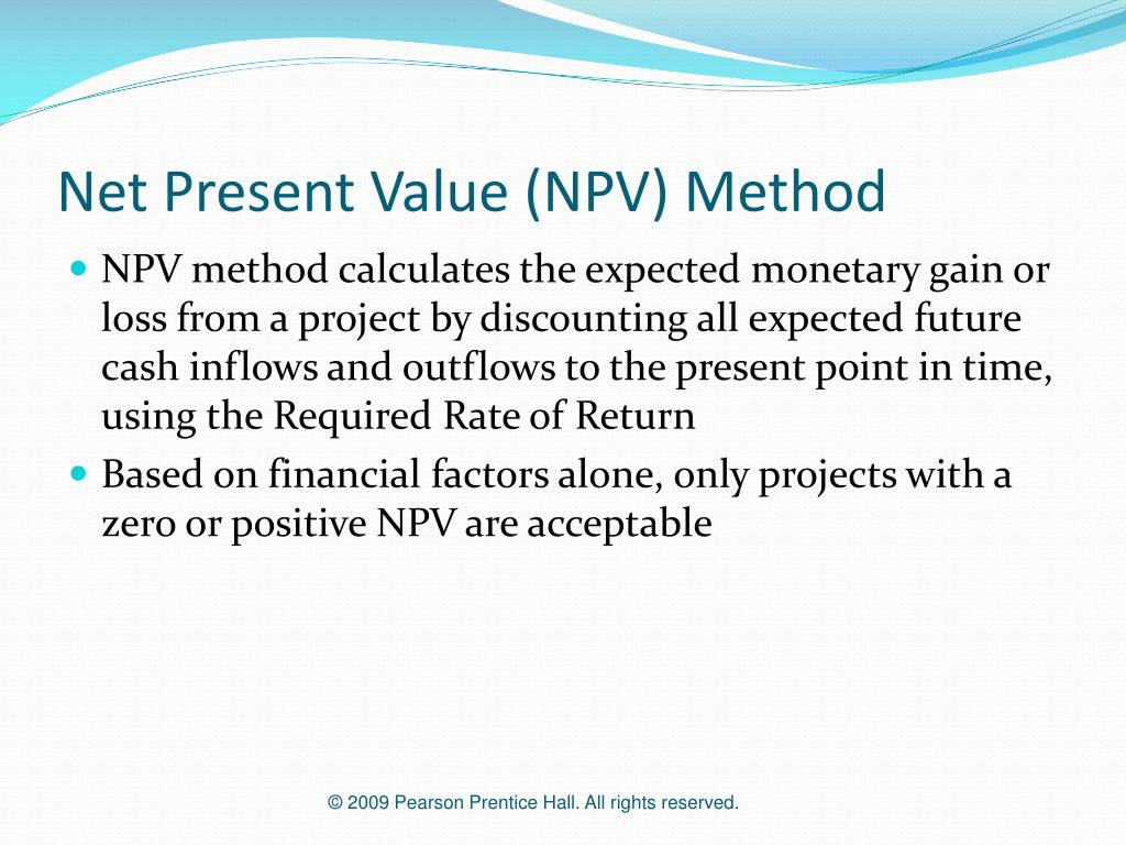 Net Present Value (NPV) Method