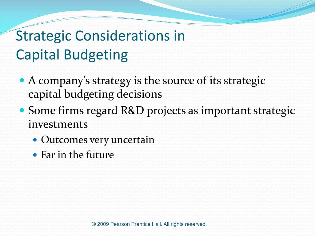 Strategic Considerations in