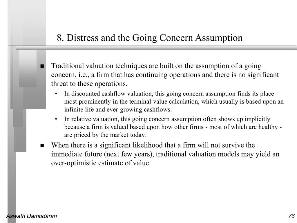8. Distress and the Going Concern Assumption