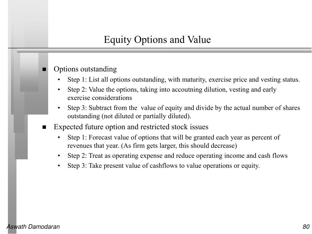 Equity Options and Value