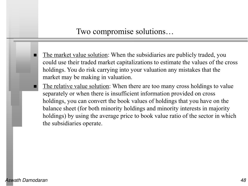 Two compromise solutions…