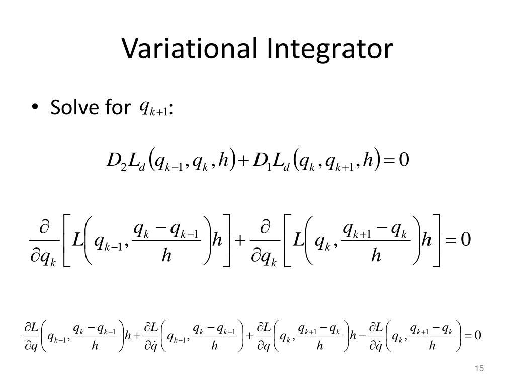 Variational Integrator