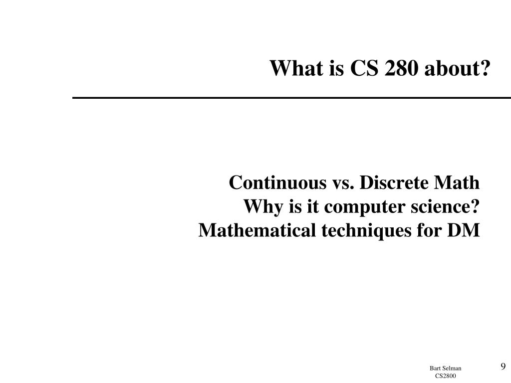 What is CS 280 about?