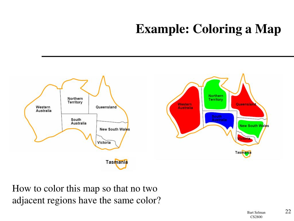 Example: Coloring a Map