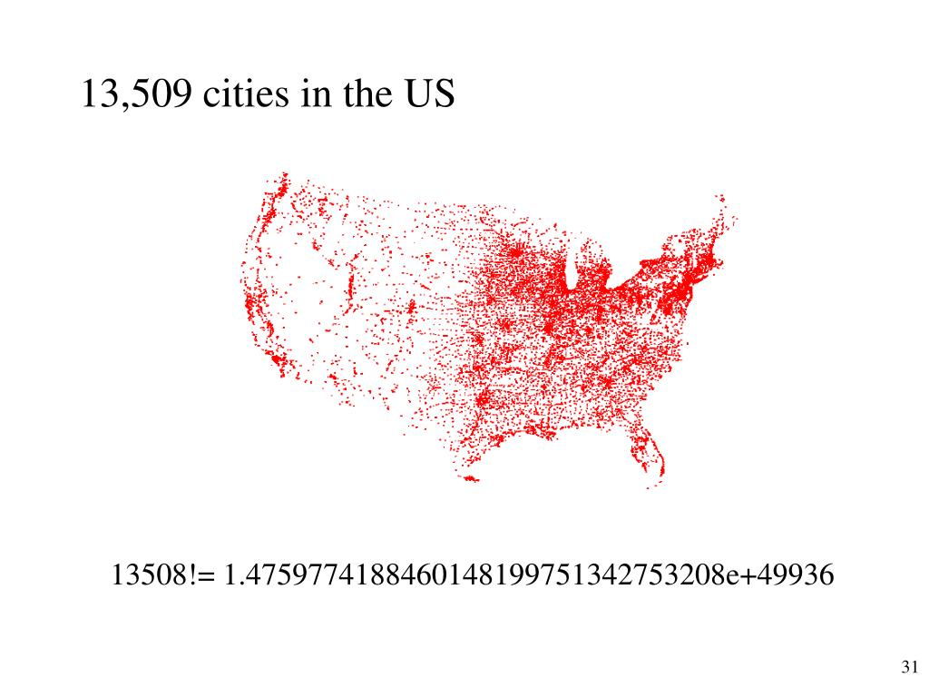 13,509 cities in the US