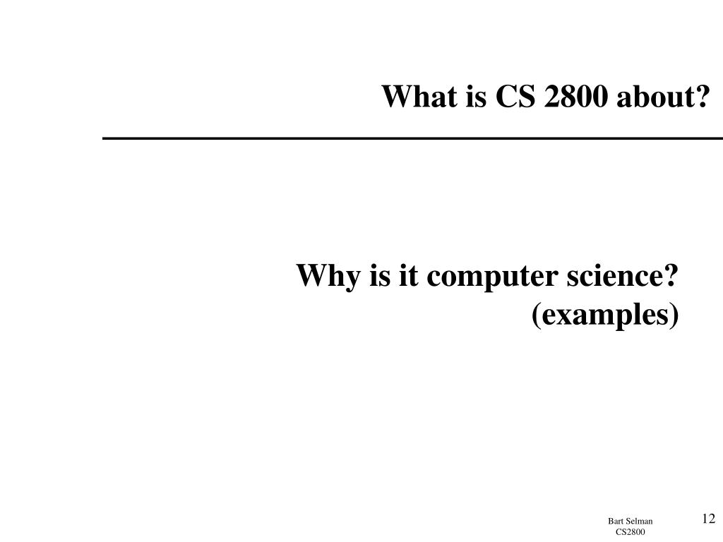 What is CS 2800 about?
