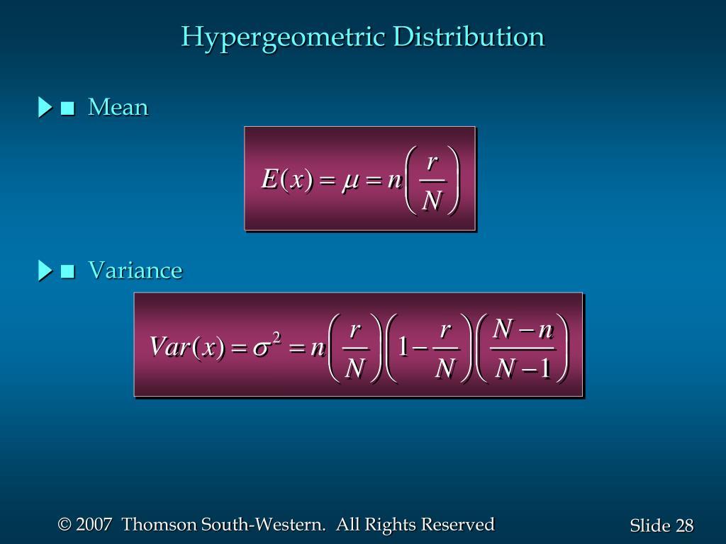 Hypergeometric Distribution
