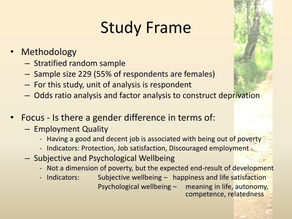 Study Frame