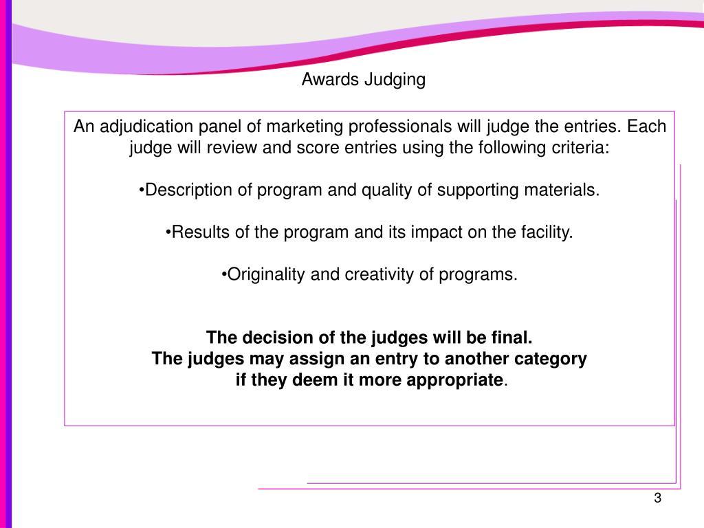 Awards Judging
