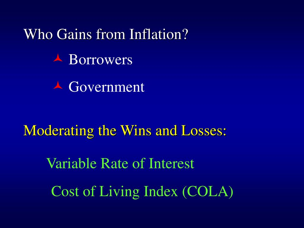 Who Gains from Inflation?
