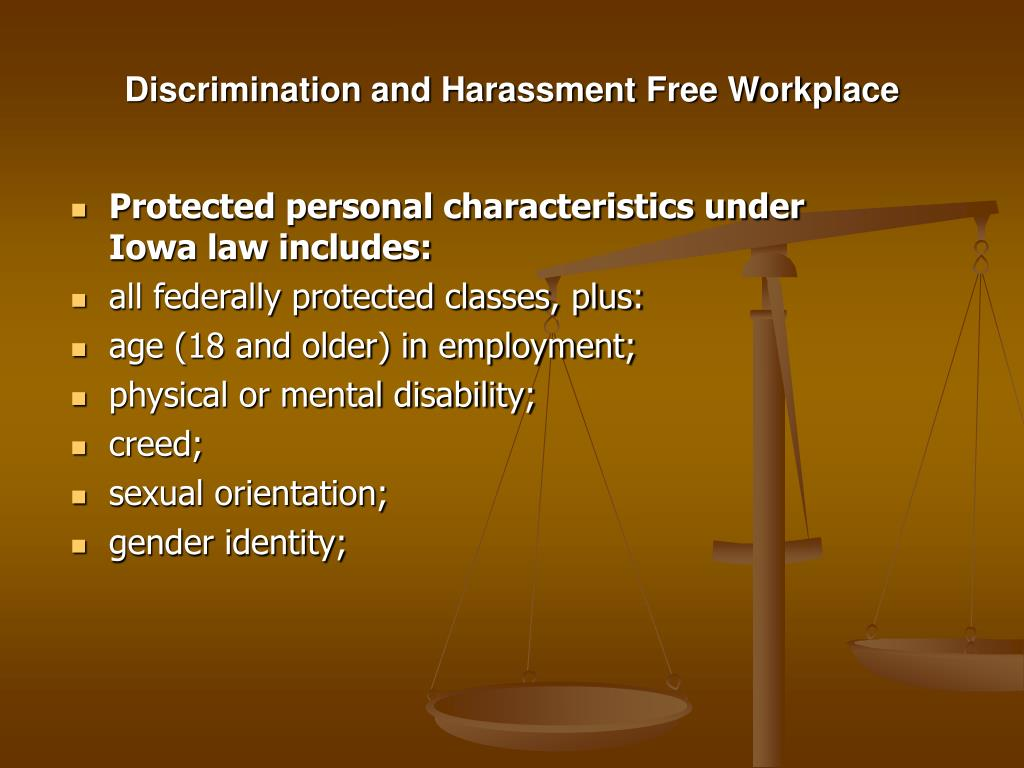 Discrimination and Harassment Free Workplace