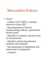 mercantilism foreign and economic policies Mercantilism france, french mercantilism and so in 1667, the government made en forcement easier by prohibiting all foreign lace whatsoever in addition france's strictly enforced policy made sure that cottons would not be flourishing there.