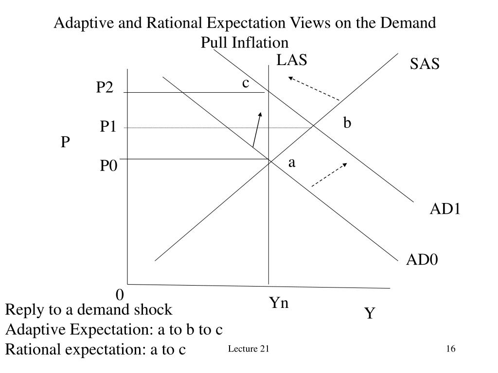 Adaptive and Rational Expectation Views on the Demand Pull Inflation