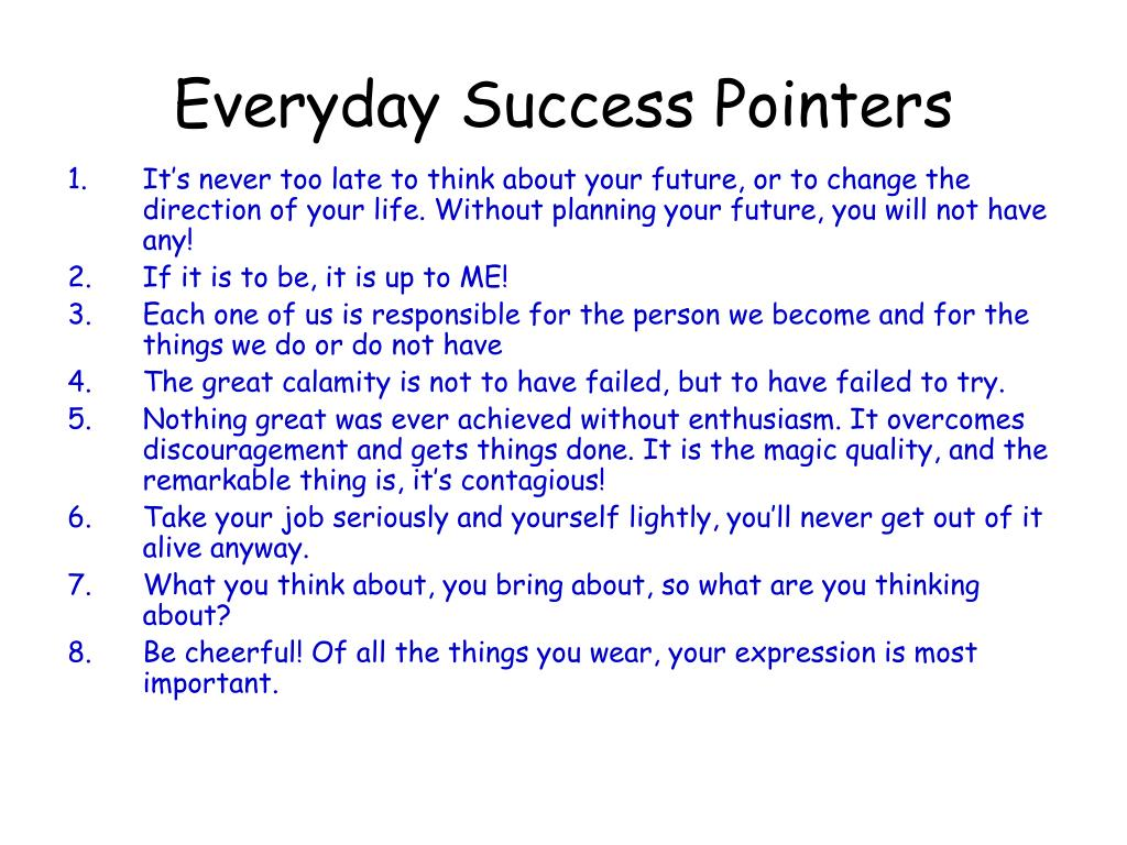 Everyday Success Pointers