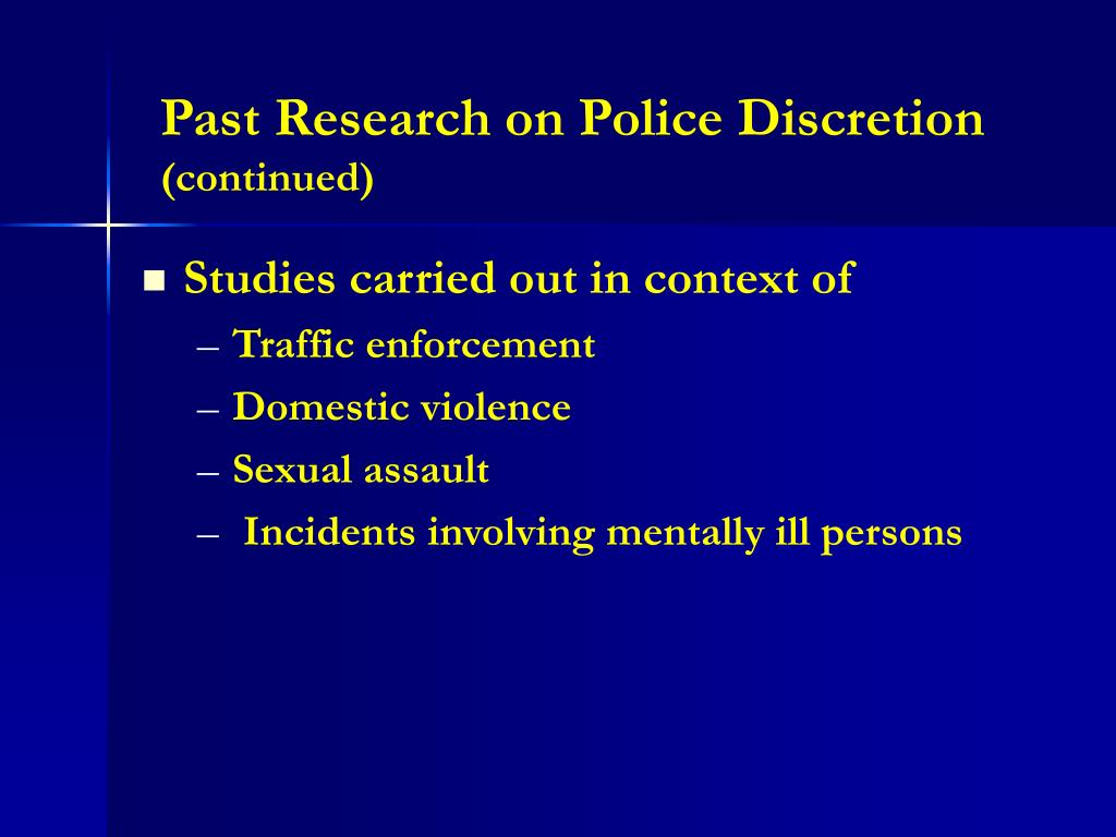 choice and discretion 3 literature review police discretion and the use of force discretion can be defined as the power to make a choice it has been said that police need discretion to maintain order in society.
