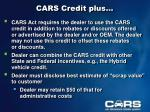 cars credit plus