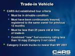 trade in vehicle