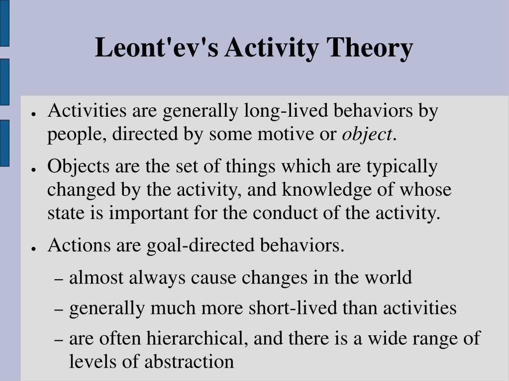 Leont'ev's Activity Theory