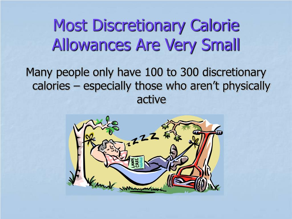 Most Discretionary Calorie Allowances Are Very Small