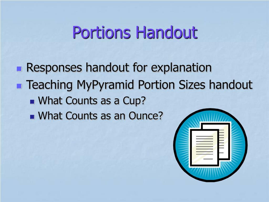 Portions Handout