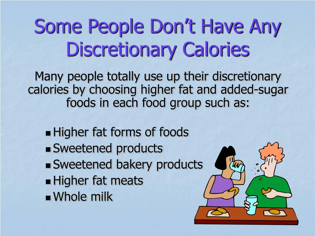 Some People Don't Have Any Discretionary Calories
