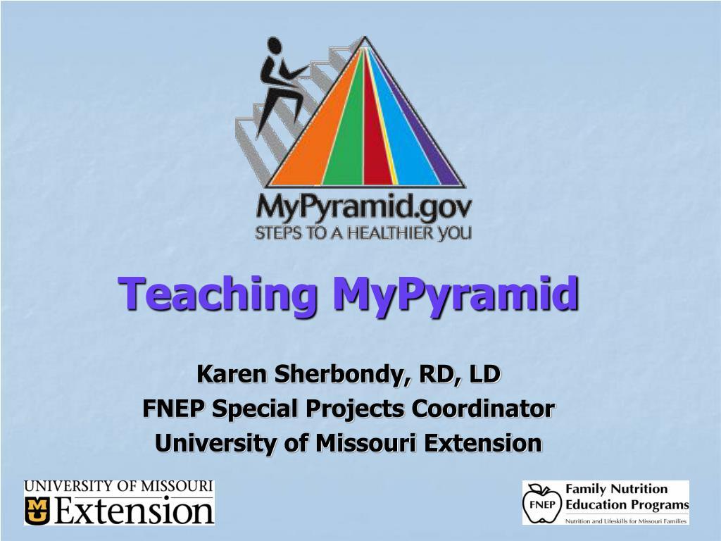 Teaching MyPyramid