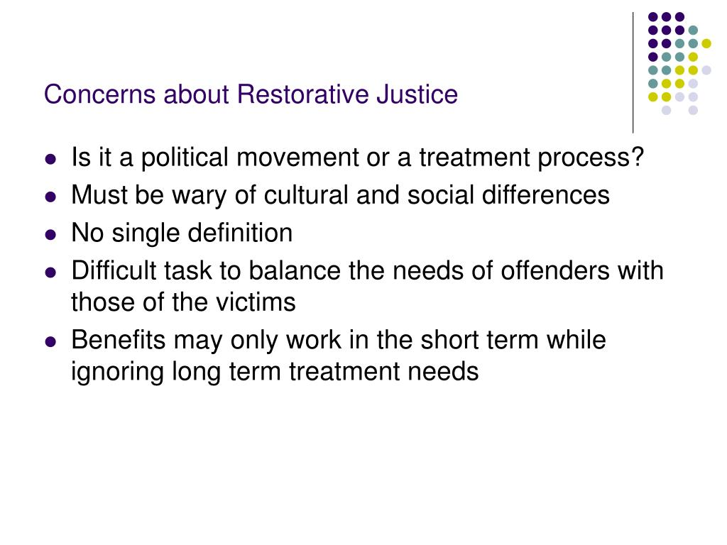 Concerns about Restorative Justice