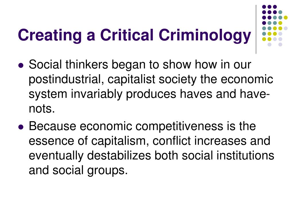 Creating a Critical Criminology