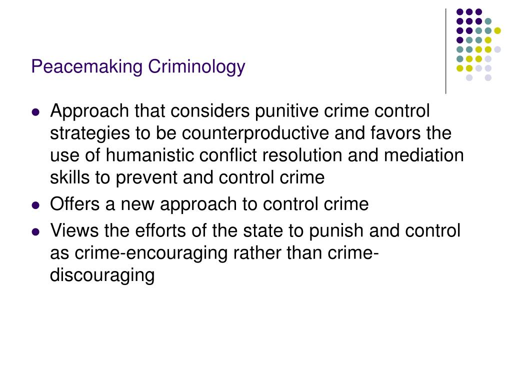 Peacemaking Criminology