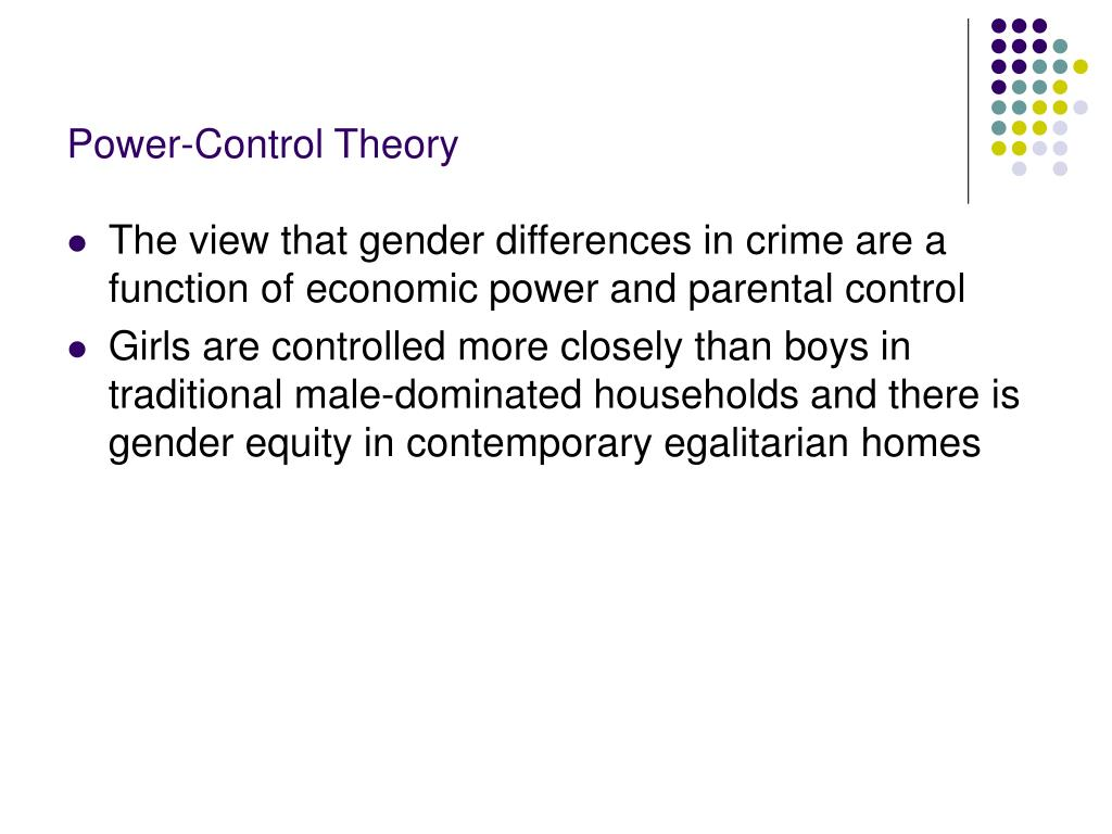 Power-Control Theory