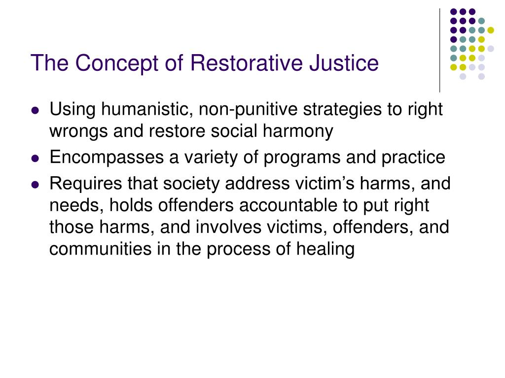 The Concept of Restorative Justice