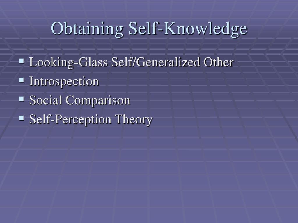 Obtaining Self-Knowledge
