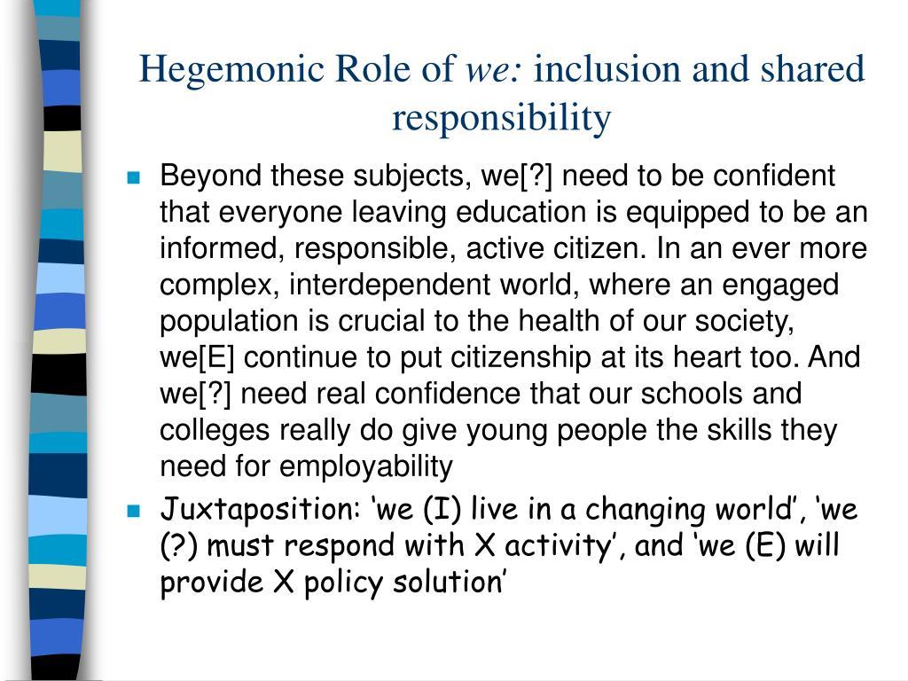 Hegemonic Role of