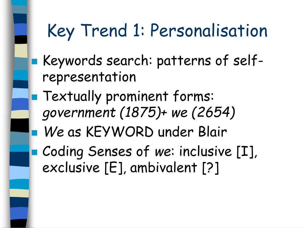 Key Trend 1: Personalisation