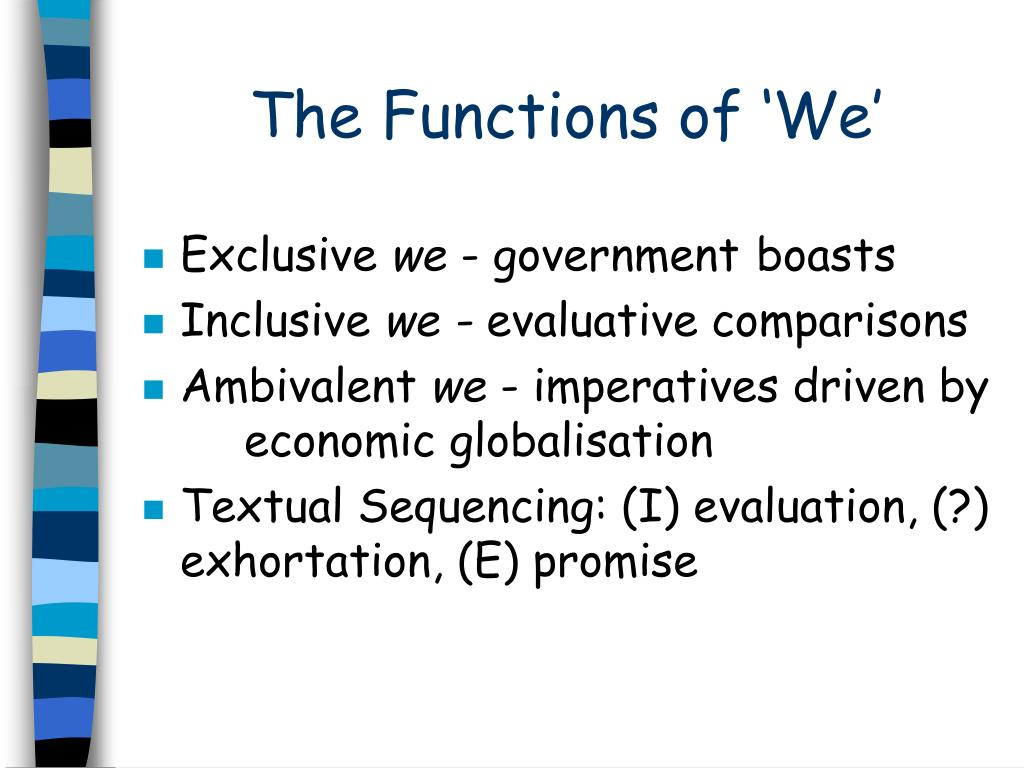 The Functions of 'We'