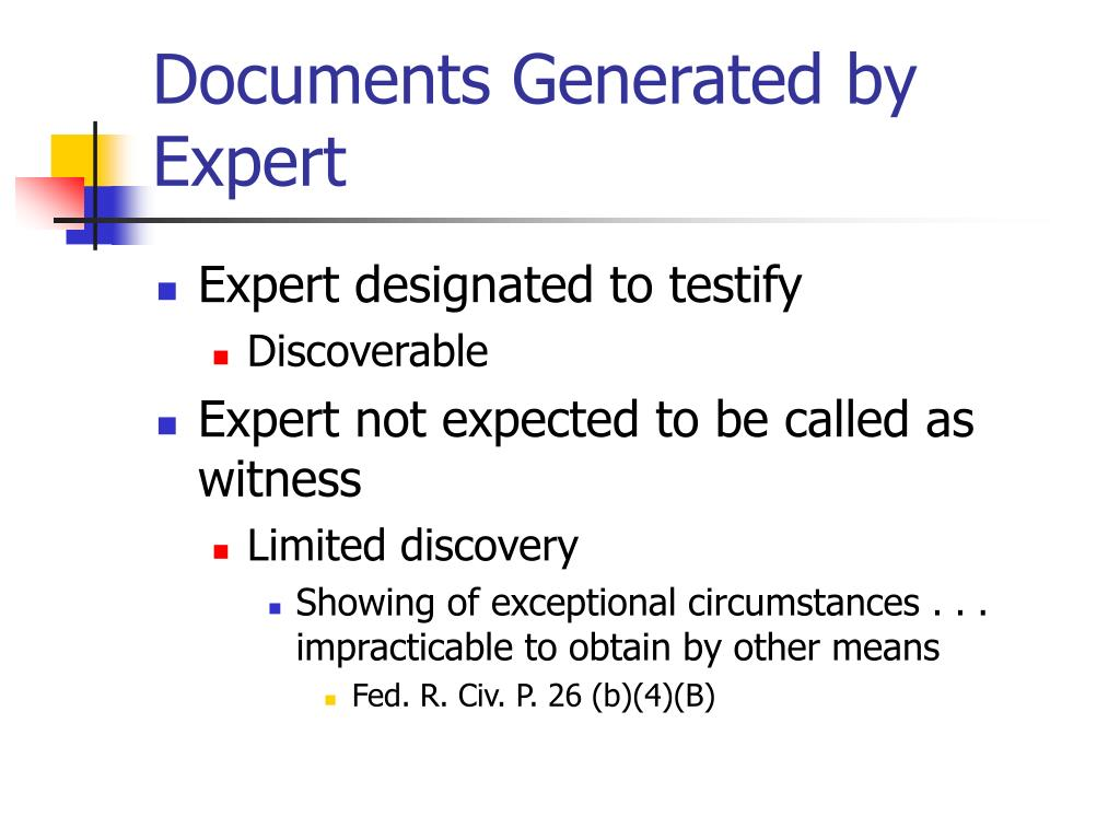 Documents Generated by Expert