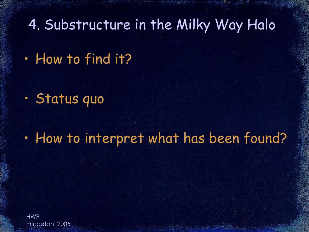 4. Substructure in the Milky Way Halo