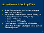 advertisement lookup files