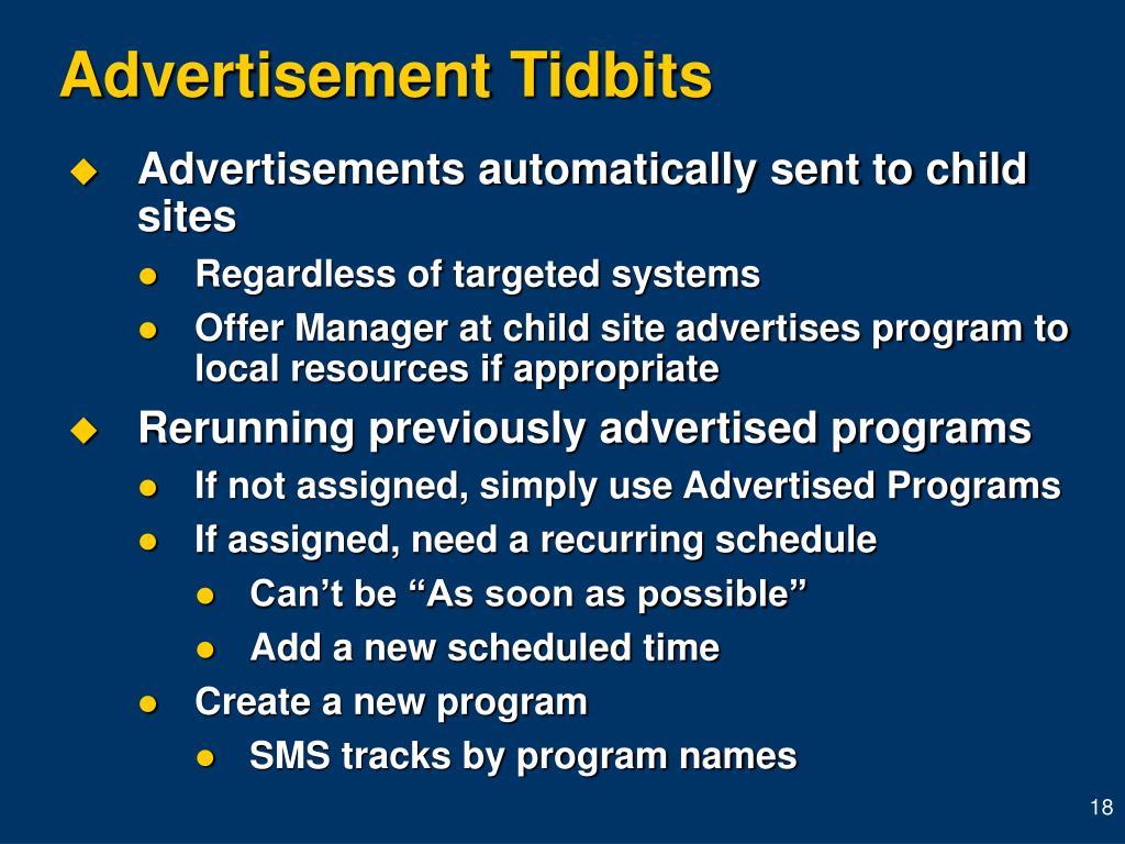 Advertisement Tidbits