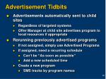 advertisement tidbits