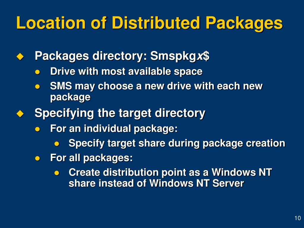 Location of Distributed Packages