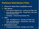 software distribution files