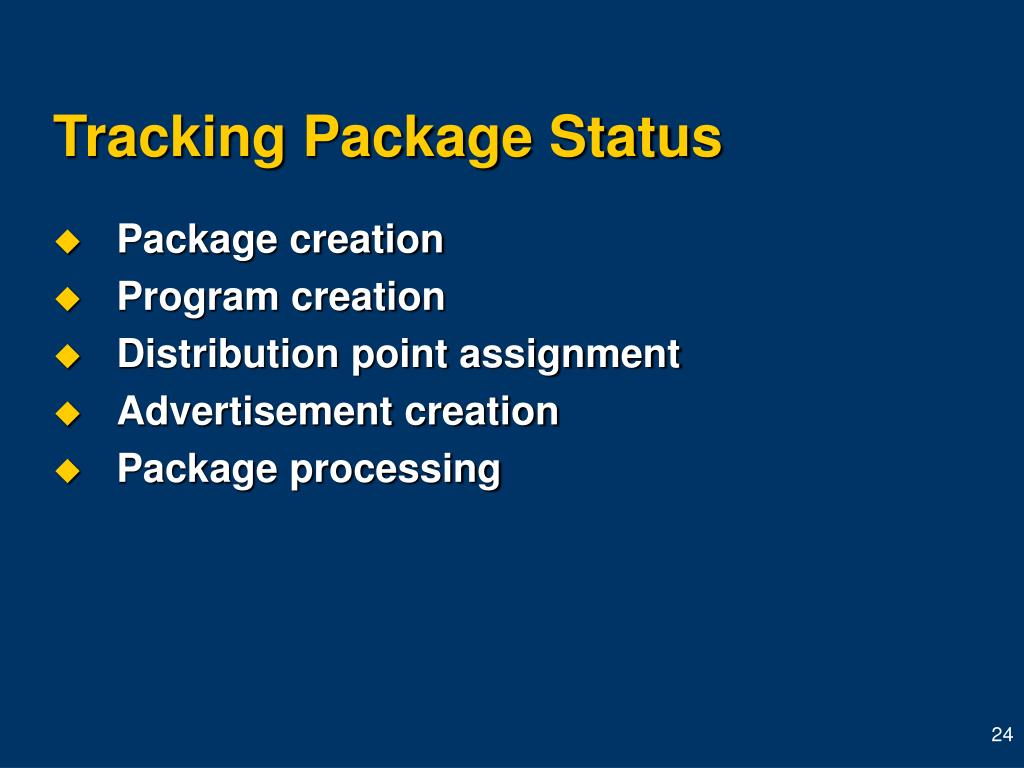 Tracking Package Status
