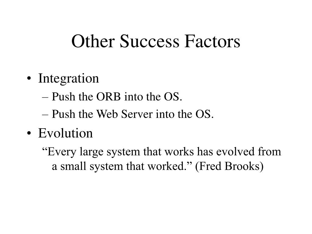 Other Success Factors