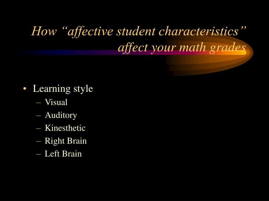 "How ""affective student characteristics"" affect your math grades"
