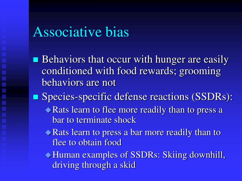 Associative bias