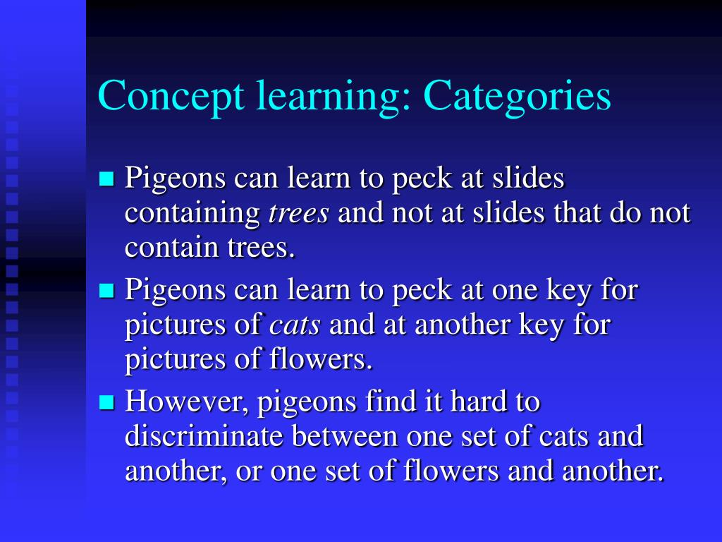 Concept learning: Categories
