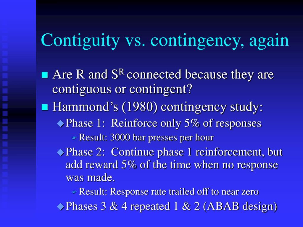 Contiguity vs. contingency, again