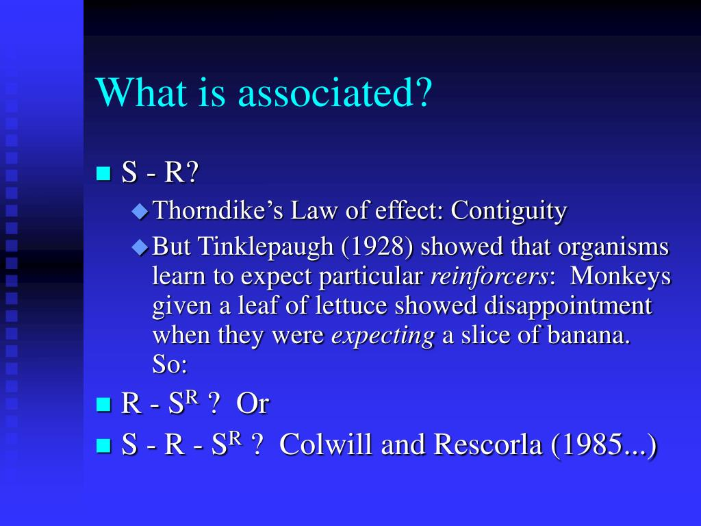 What is associated?
